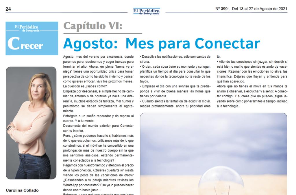 Agosto: Mes para Conectar por Carolina Collado en el Periódico de Sotogrande
